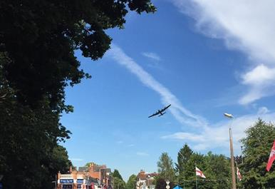 Woodhall Spa war weekend fly past